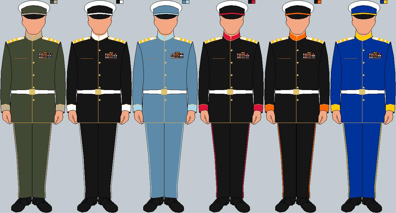 Uniform clipart military branch Insignia various hypothetical Navy Uniforms