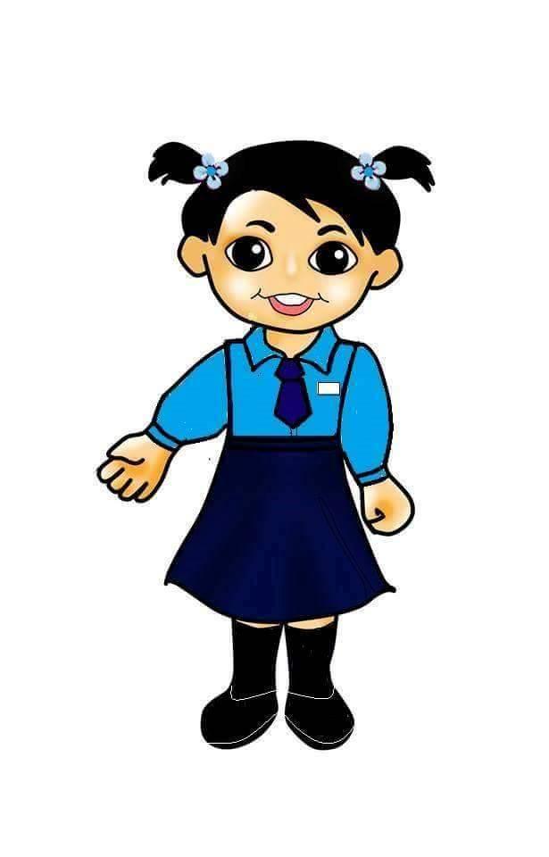 Uniform clipart primary student Girl Children  school Digi