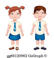 In EPS girl Boy Clipart