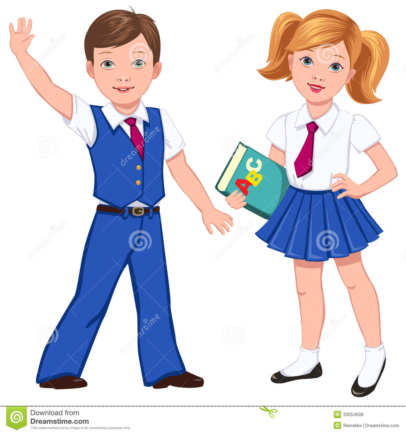 Uniform pictures Girl clipart collection