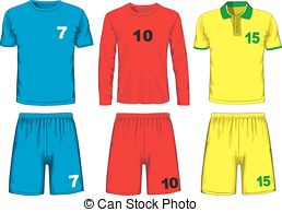 Uniform clipart soccer uniform Illustrations  different uniform Vector