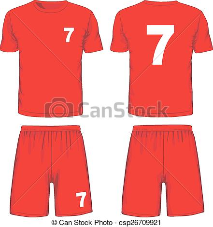 Uniform clipart soccer uniform Back Set and view uniform