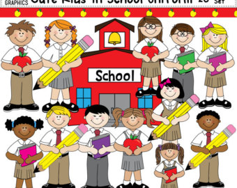 Uniform clipart teacher's Cute In Children Student Clip