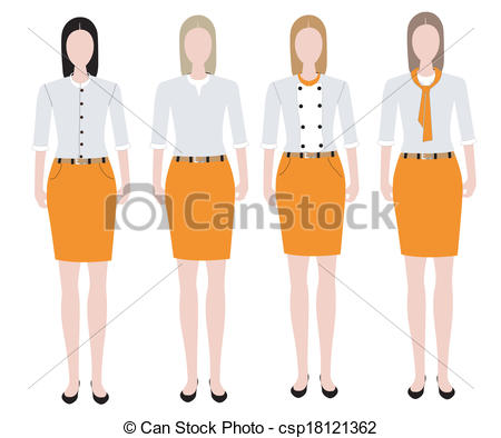 Uniform clipart teacher's Design uniform of Vector Woman