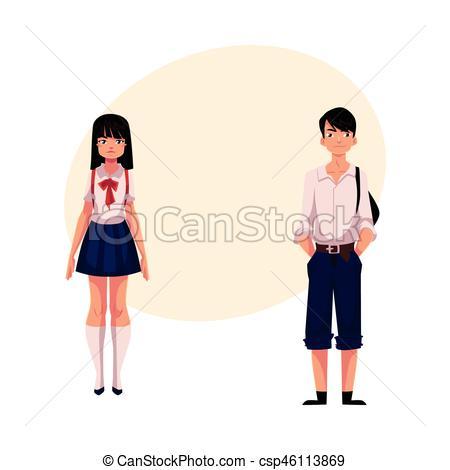 Uniform clipart teenage student Clip students teenage Typical schoolgirl