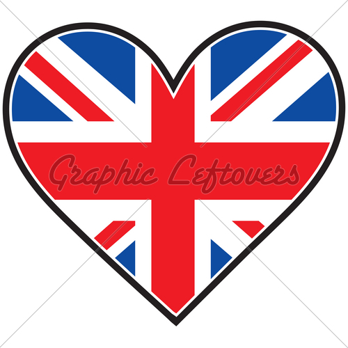 Union Jack clipart british flag And Stock Heart Vector Flag