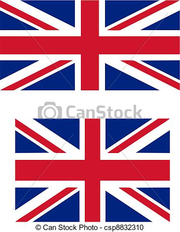 Union Jack clipart british flag Vector flag  UK csp8832310