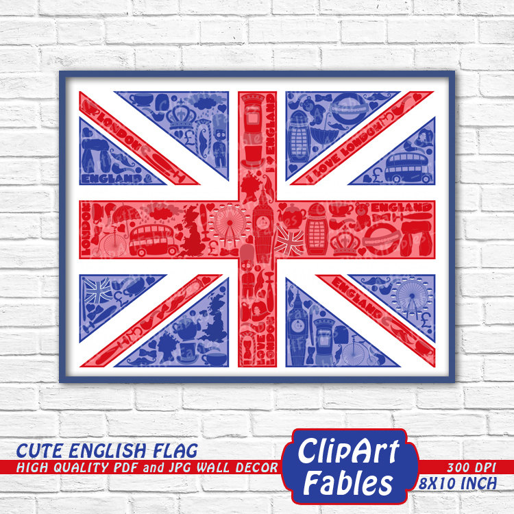 Union Jack clipart stars Decor flag Great Uk Cute