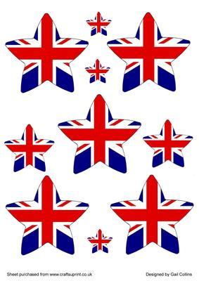 Union Jack clipart stars Exclusive CUP86936_695 Union Stars Craftsuprint