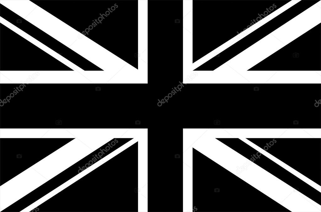 Union Jack clipart vector Black Jack flag Jack white