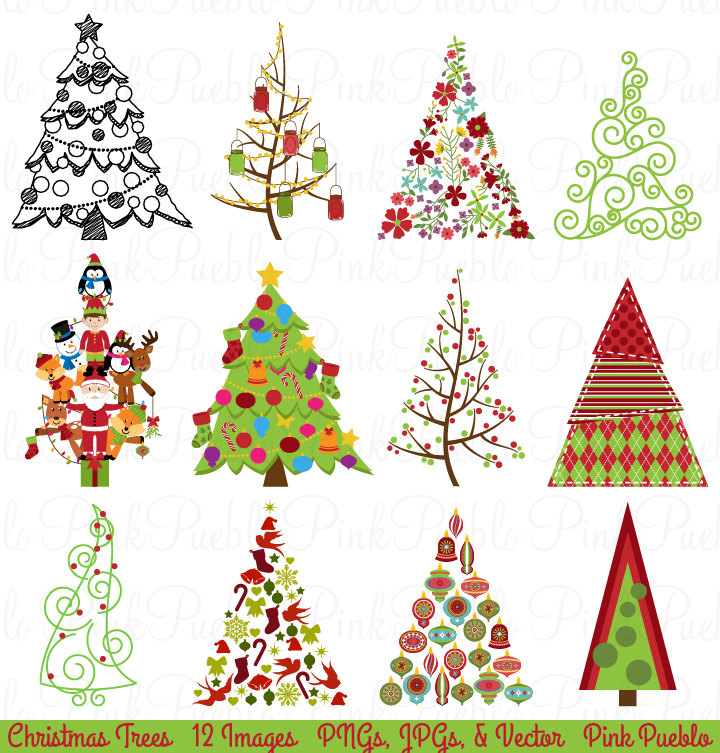 Creative clipart child painting Holiday Clipart Christmas Christmas Tree