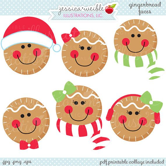 Unique clipart cute christmas Faces 25+ Christmas Use on