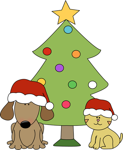 Unique clipart cute christmas Dog Clip Tree in Christmas