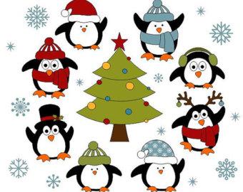 Sanya clipart penguin Year Clipart Cute Clip Christmas