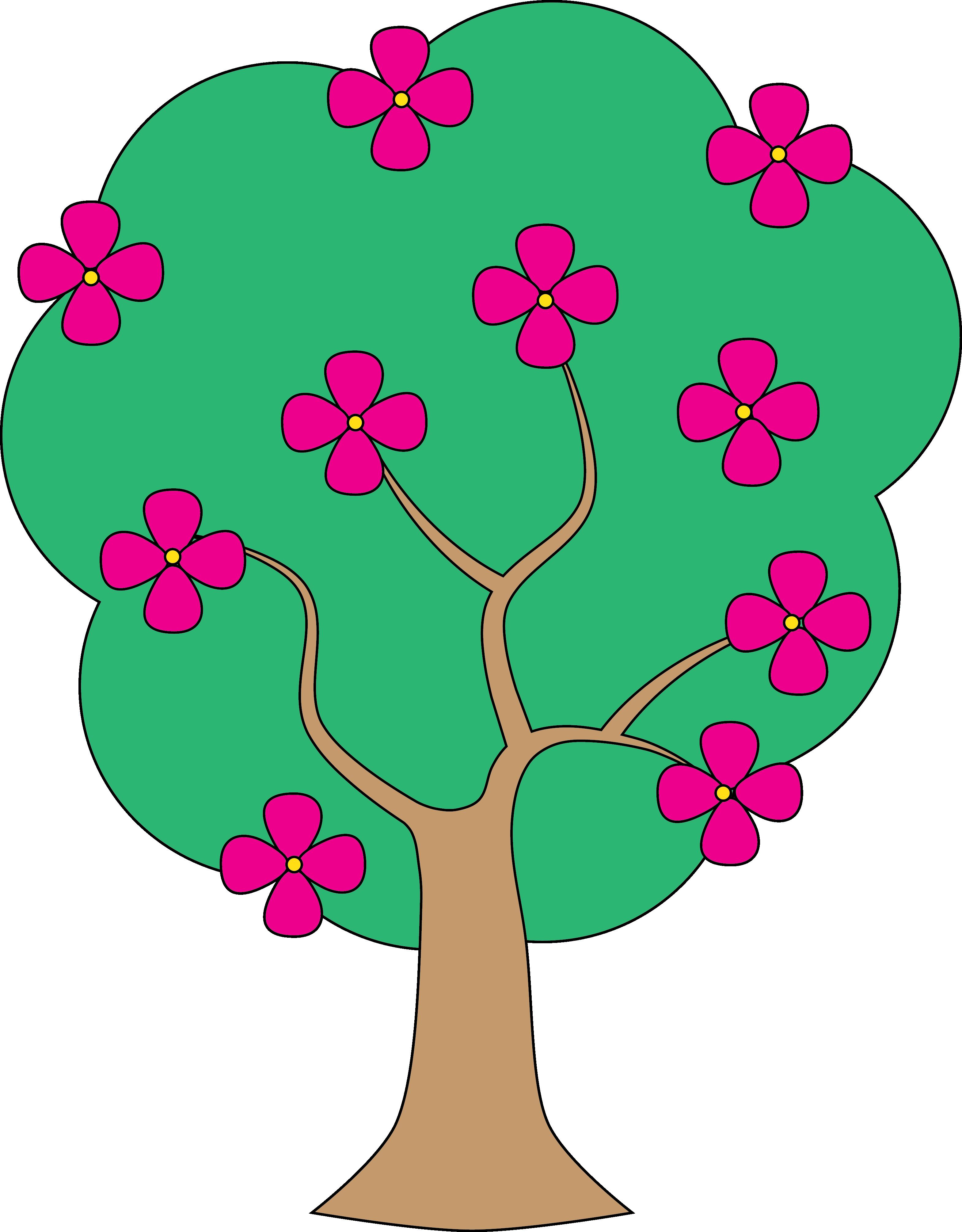 Tree clipart apple blossom #1