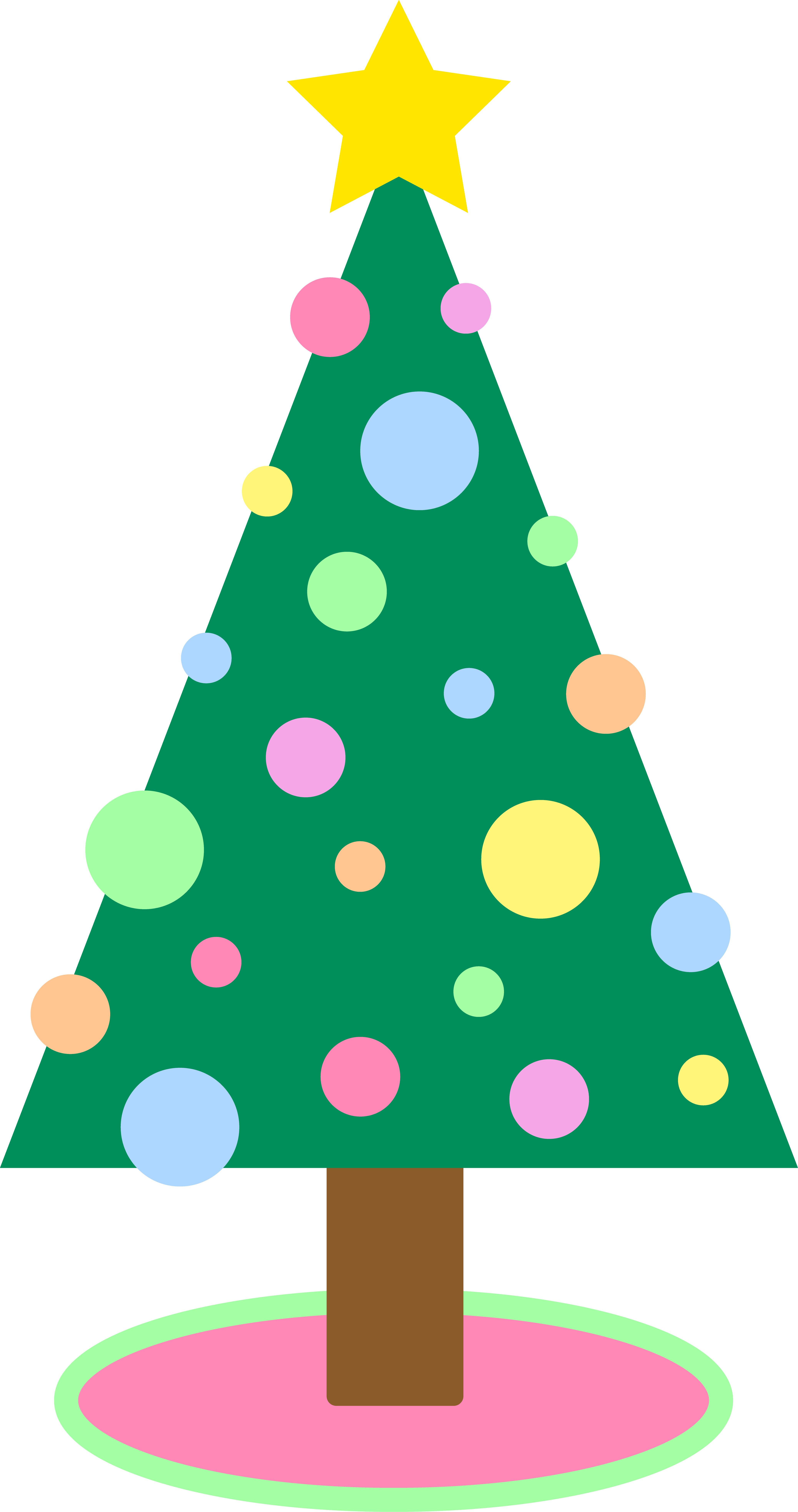 Pastel clipart colorful star Download to Tree Christmas PDClipart