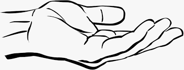 Unique clipart hand down #12