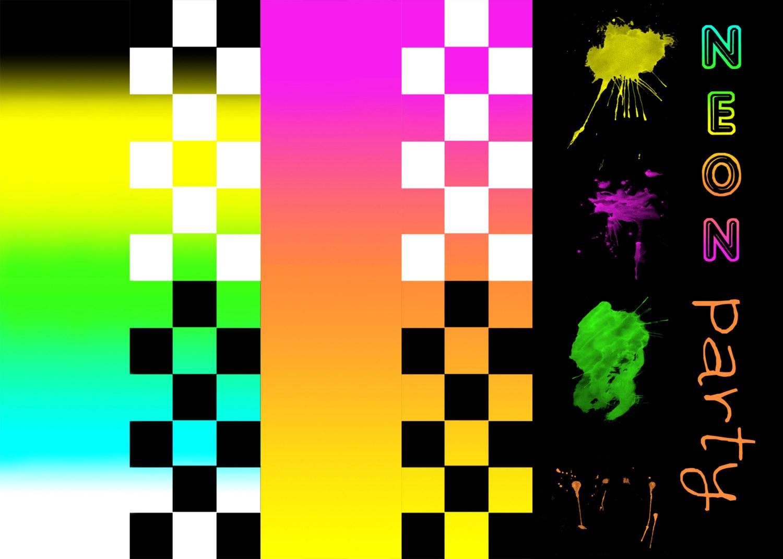 Neon clipart splat #4