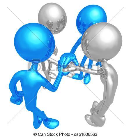Teamwork  3D Concept Figure
