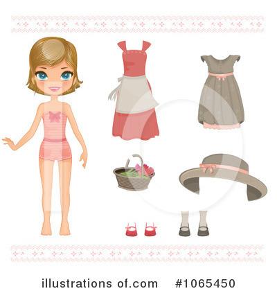 Unique clipart paper doll #11