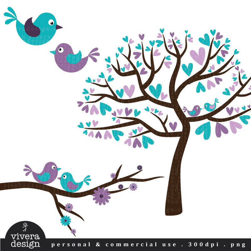 Turquoise clipart tree #12