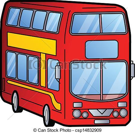 Bus clipart red bus Decker Decker Bus csp14832909 London