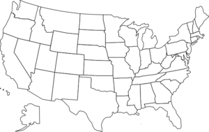 United States clipart United States clip Map Art