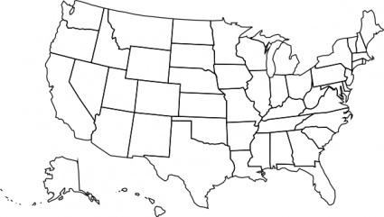 United States clipart icon vector State states image map Us