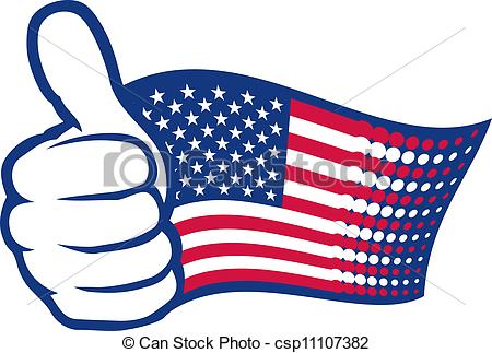 United States clipart icon vector Thumbs showing up  and