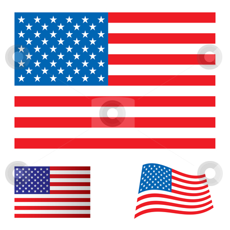 United States clipart icon vector Flag vector set states images: