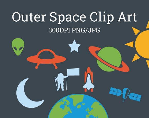 Space clipart galaxy Art ~ Outer Clip on