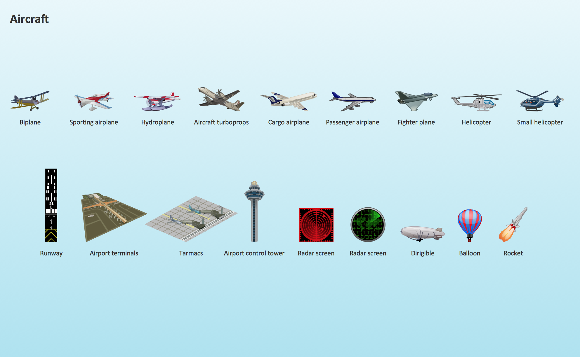 Figurine clipart visio Aircraft clipart element clipart design