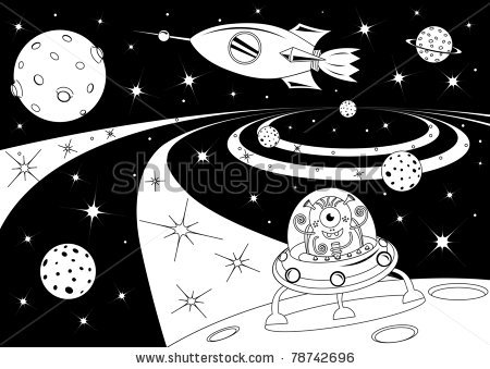 Universe clipart black and white Universe White Clipart And White