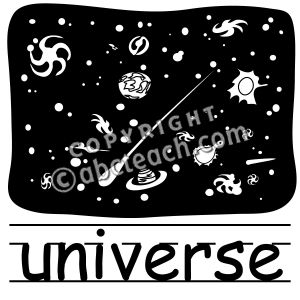 Universe clipart black and white Universe Free Clipart Images Art