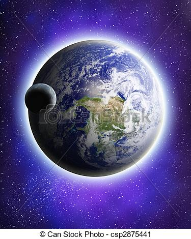Universe clipart earth  Search of moon universe