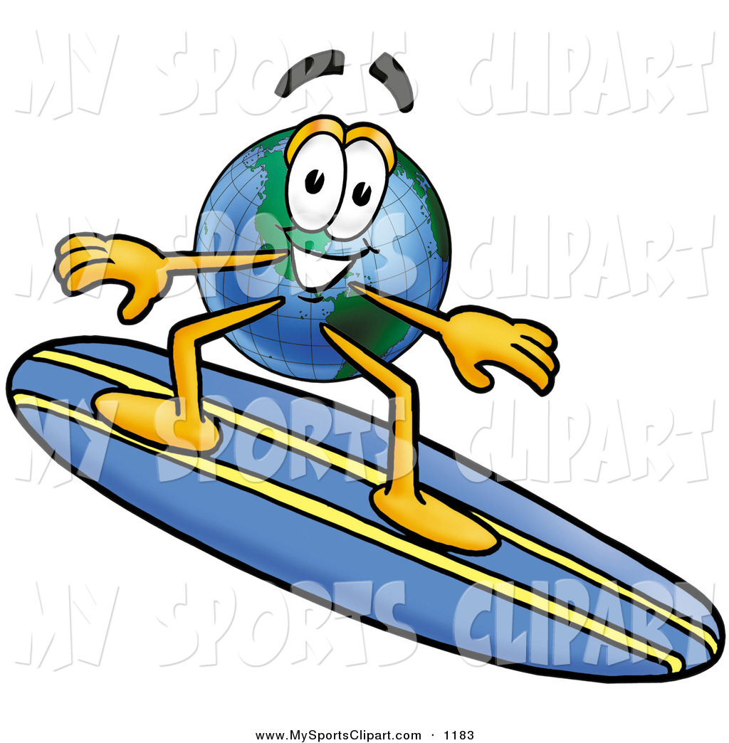 Universe clipart earth Sporty of Blue Mascot a