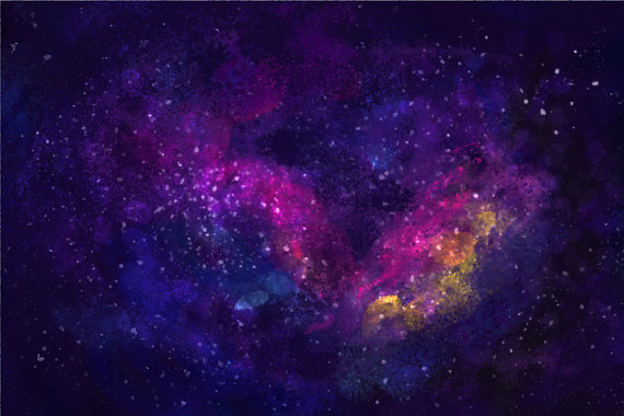 Night Sky clipart space background Graphic Night Landscape Studio WatercolourClipArt