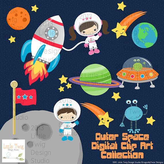 Astronaut clipart space science Space Pinterest art Clipart Digital