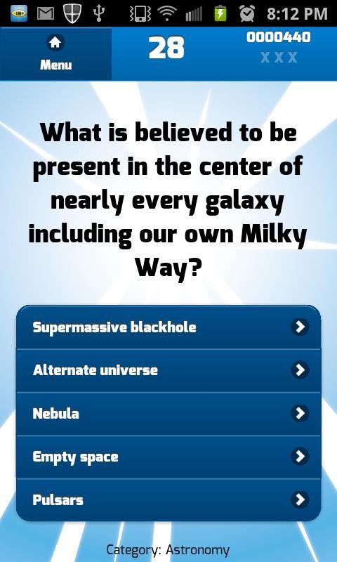 Galaxy clipart science quiz #5