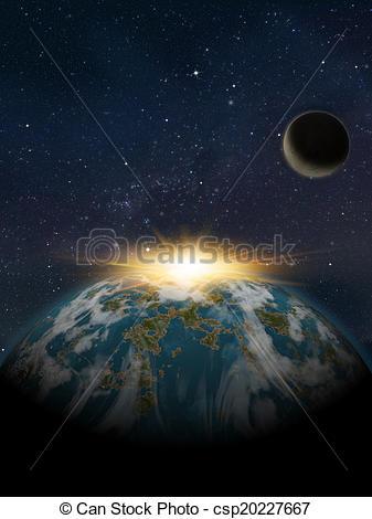 Universe clipart space scene Sunset Planet scene planet Planets:
