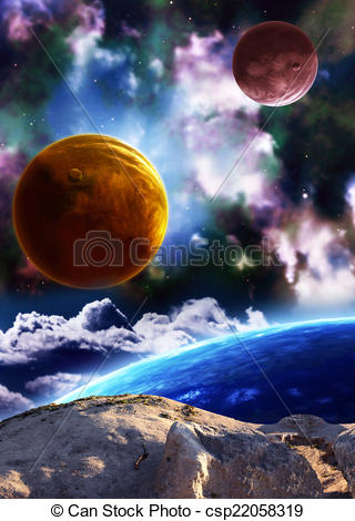Universe clipart space scene Planets Beautiful and space scene