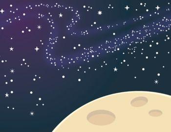 Universe clipart space scene Color on 5