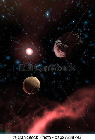 Universe clipart space scene A a Stock Digital 3D
