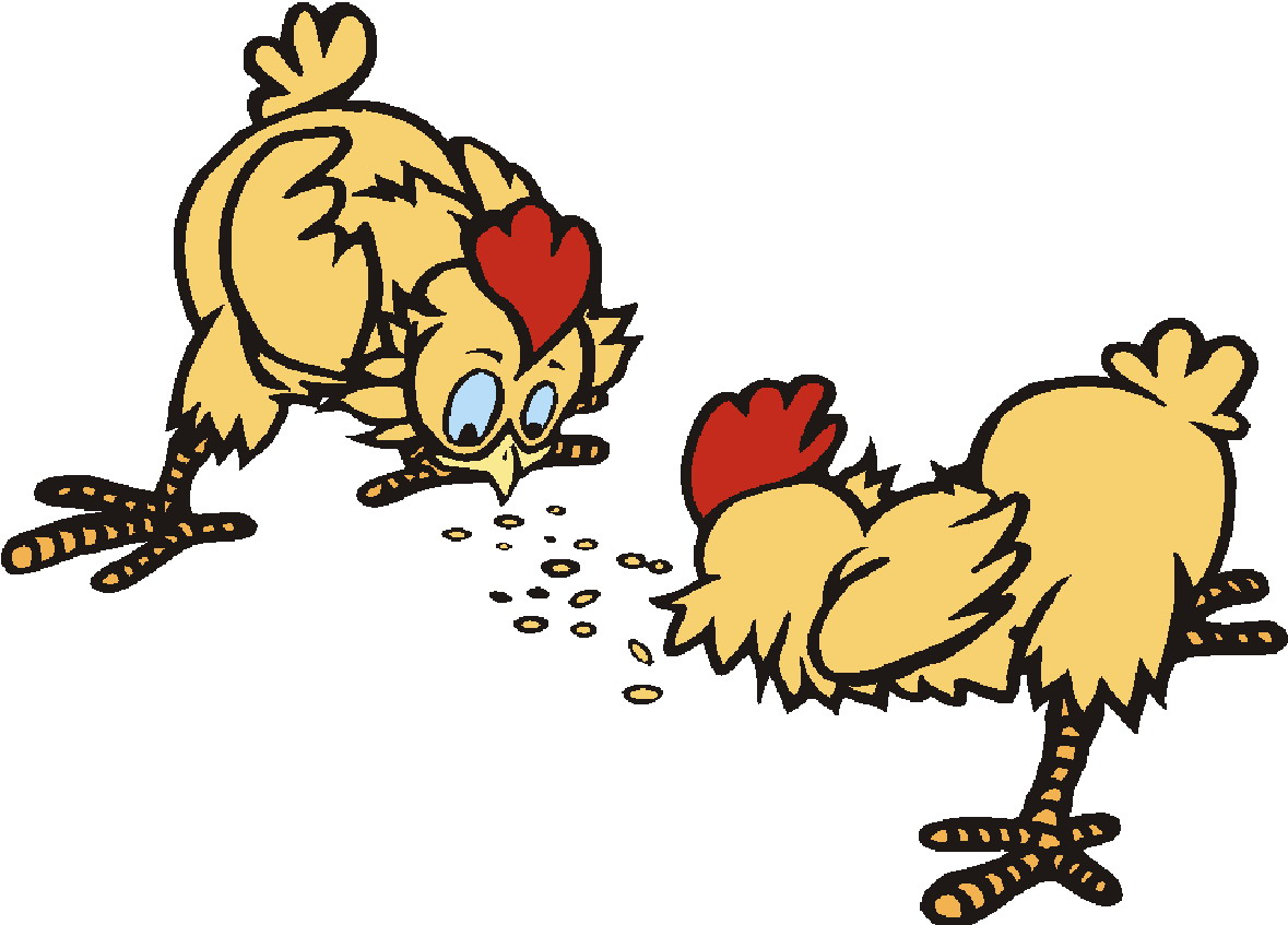 Grain clipart chicken eats Clipart Of Clipart #3155 Chickens