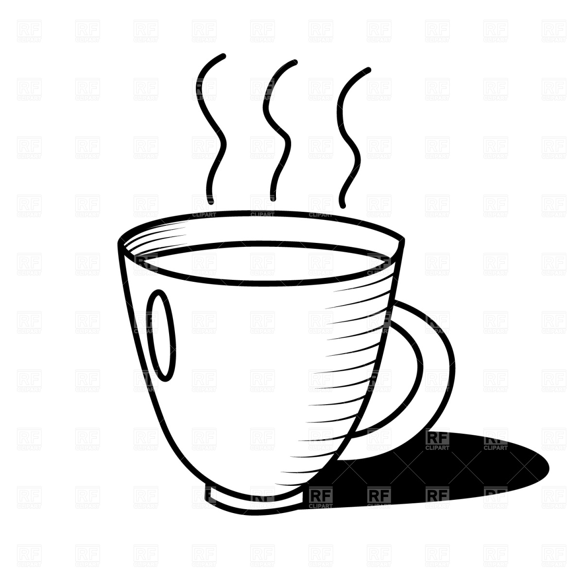 Coffee clipart black and white And Black Coffee Clipart Art