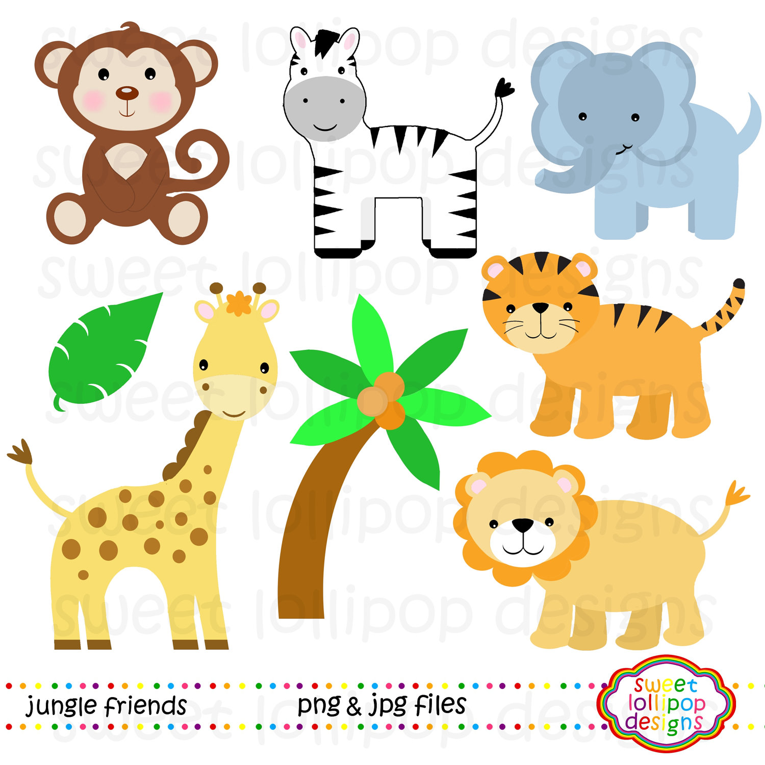 Zoo clipart forest animal Animals Ba Animals Cute Jungle