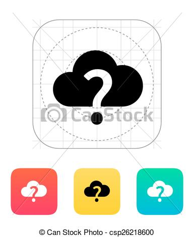 Unknown clipart icon Icon Vector weather illustration of