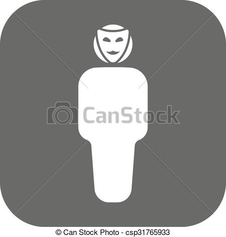 Unknown clipart icon Vector faceless icon anonym Unknown