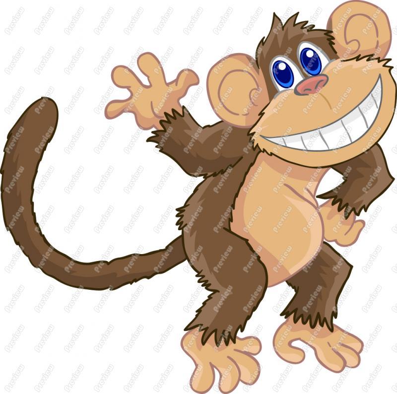 Baboon clipart cute I Cute Art Monkey Art