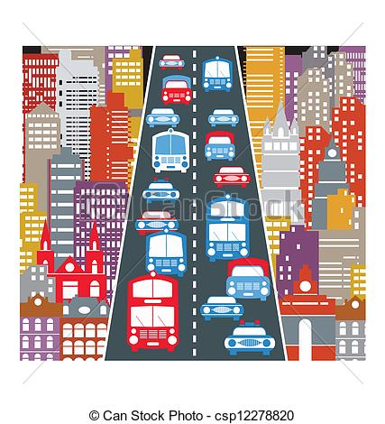 Traffic clipart city community Traffic Automobile Vector Illustration